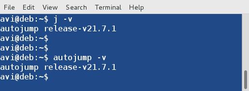 查看 Autojump 的版本