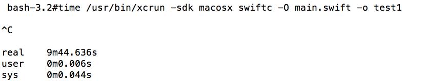 图8、使用类型推断的 Swift 代码,编译速度很慢