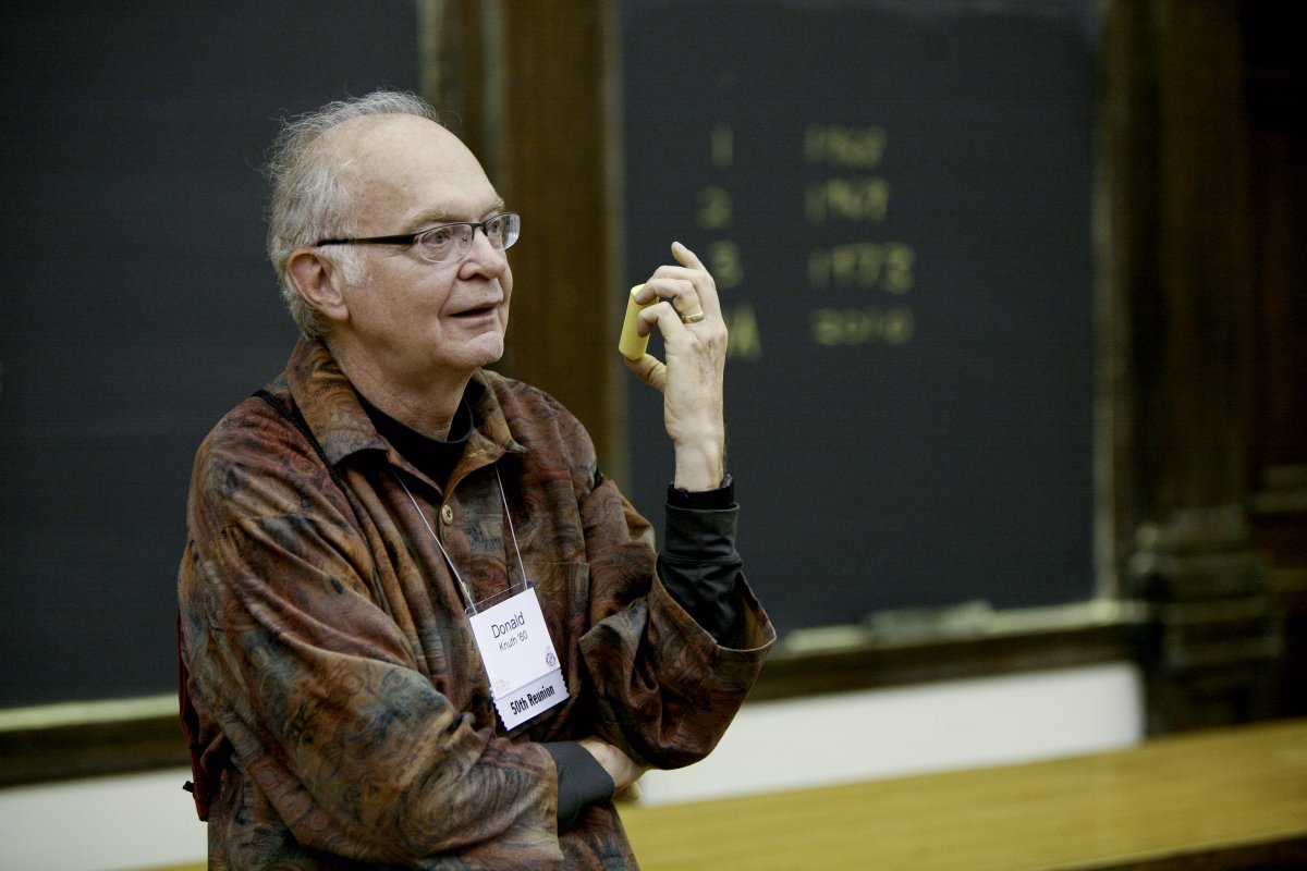 "Donald Knuth, the ""father of the analysis of algorithms"""