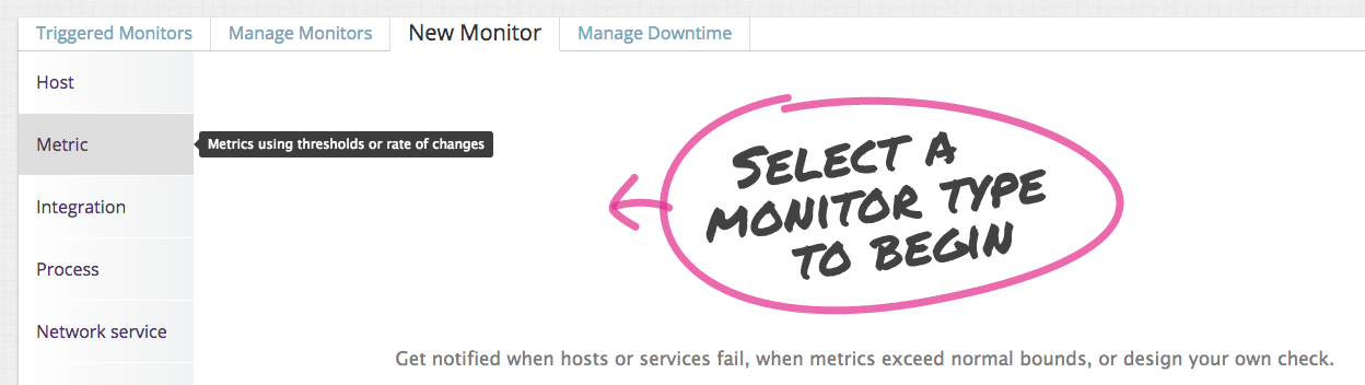 NGINX metric monitor