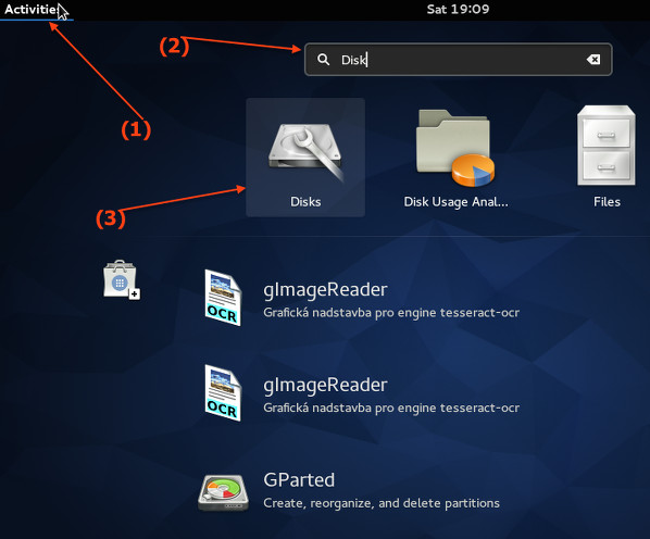 Fig.03: Start the Gnome disk utility