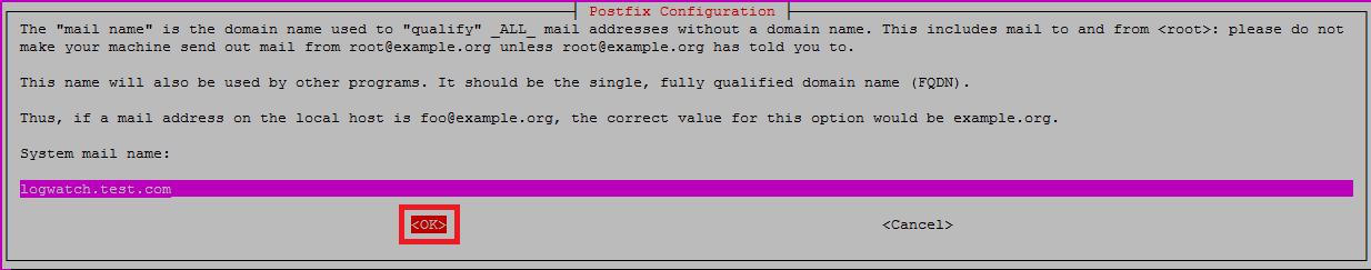 Postfix Setup