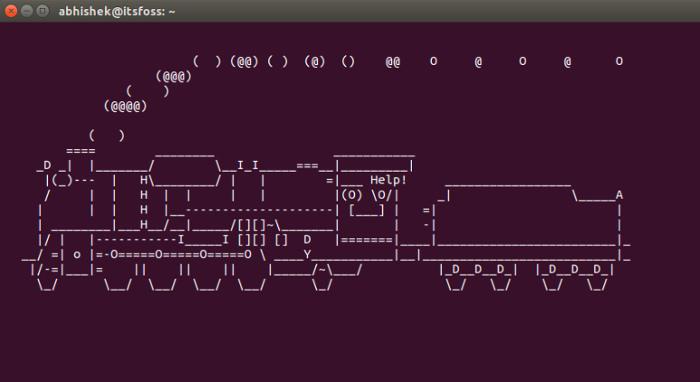 Linux Terminal Train