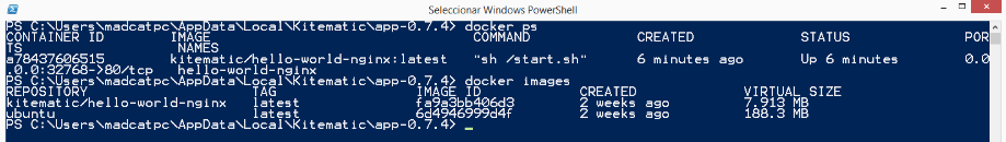 Docker CLI PowerShell
