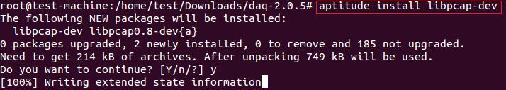libpcap-dev installation