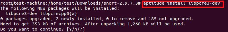 libpcre3-dev install