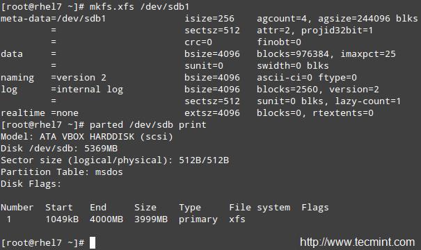 在 Linux 中格式化分区