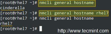 使用 nmcli 命令来设定主机名