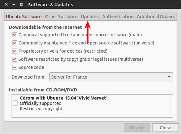 Ubuntu 软件升级设置