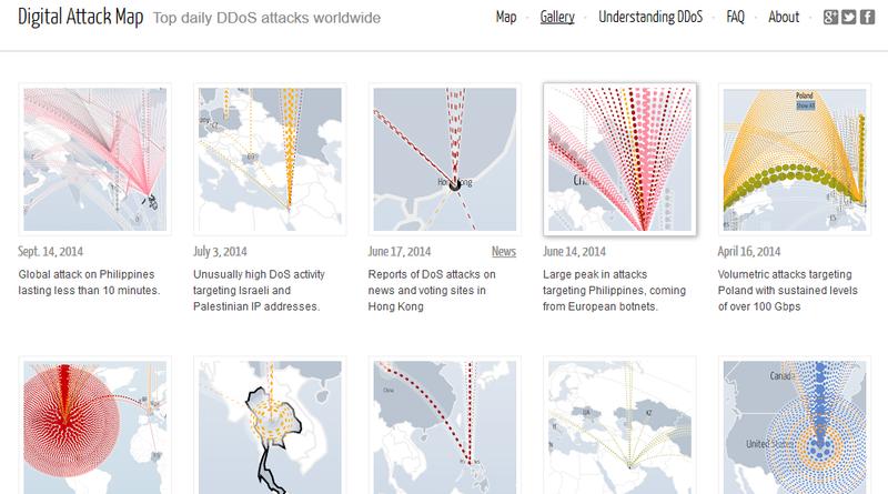 谷歌数字攻击地图
