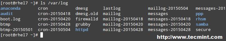 Linux Log Files Location