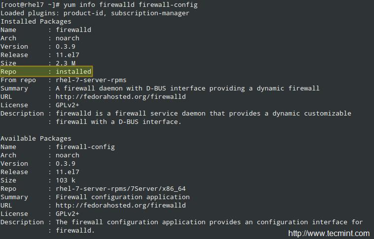 检查 FirewallD 的信息