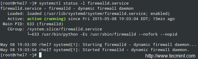 检查 FirewallD 的状态