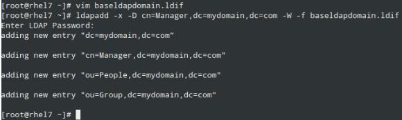 添加 LDAP 域名,属性和键值
