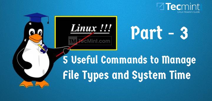 在 Linux 中管理文件类型和设置时间