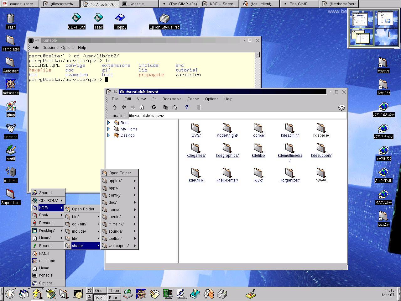 KDE 1.1