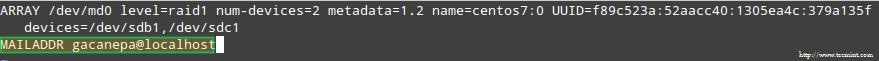 RAID Monitoring Email Alerts