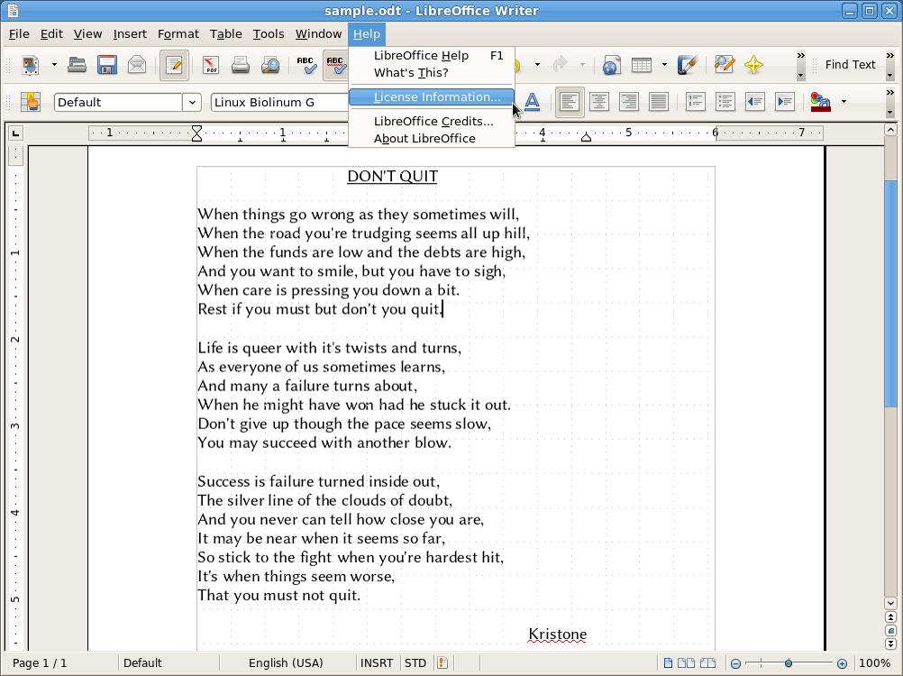 LibreOffice 3.3, 2011