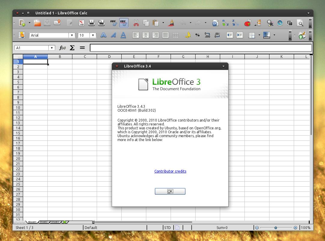 LibreOffice 3.4