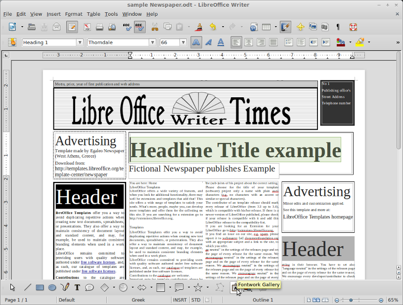 Libre Office 4.0