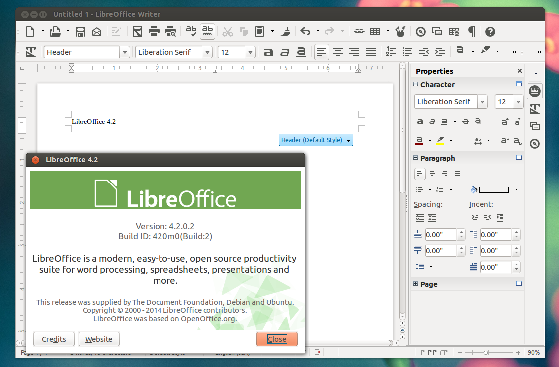 Libre Office 4.2