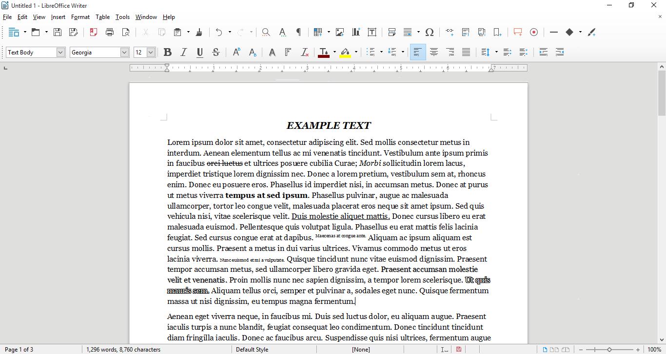 Libre Office 5.0