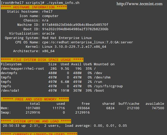 服务器监视 Shell 脚本