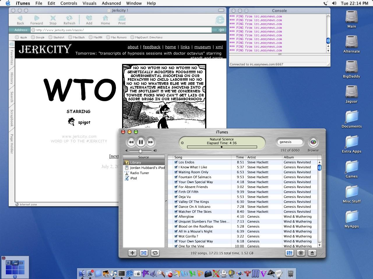 Jordan Hubbard的电脑桌面,截图于2002年7月