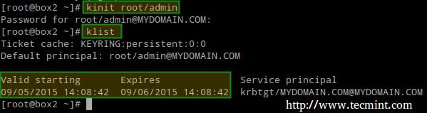 缓存 Kerberos