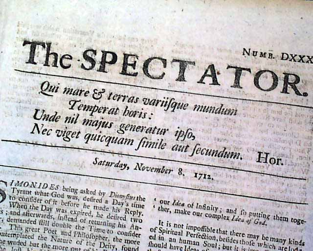 《旁观者》:1712年11月8日