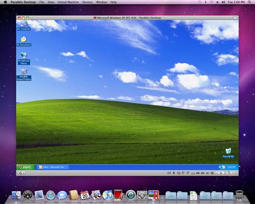 示例:在Mac上通过虚拟机使用Windows