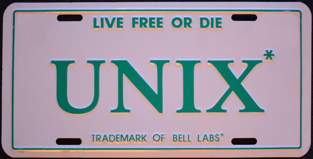 用于推广 UNIX,以车牌形式出现