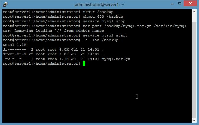 基于文件的 MySQL 备份