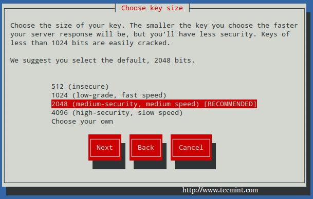 选择 Apache SSL 密钥大小