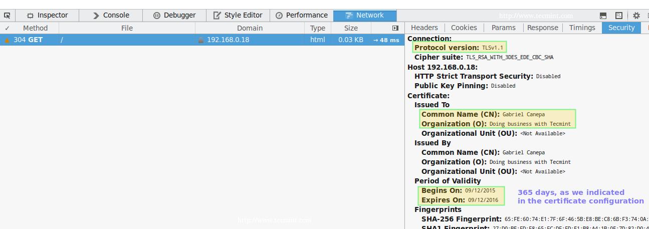 检查 Apache HTTPS 连接