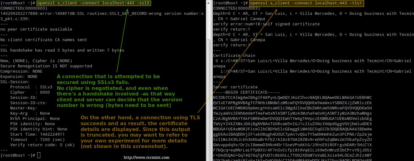 测试 Apache SSL 和 TLS 连接