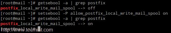 设置 Postfix SELinux 权限