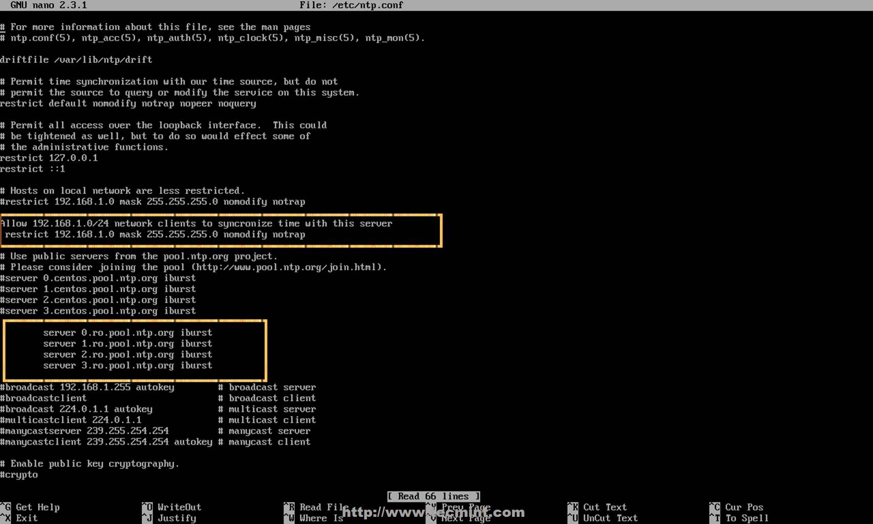 CentOS 中 NTP 服务器的配置