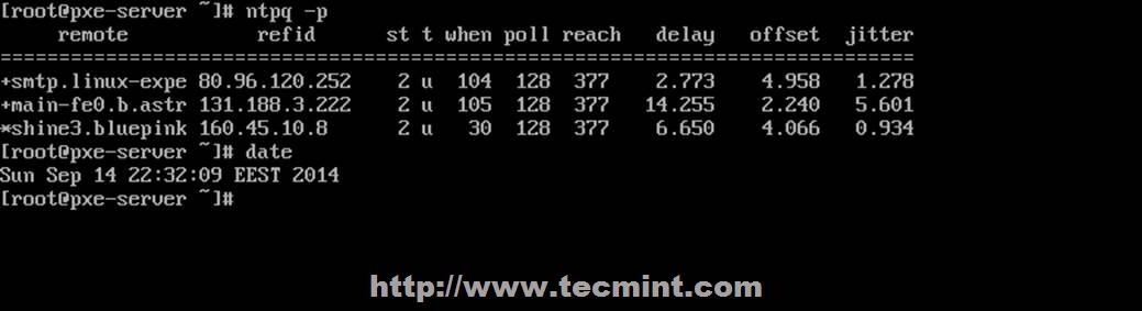 验证 NTP 服务器时间
