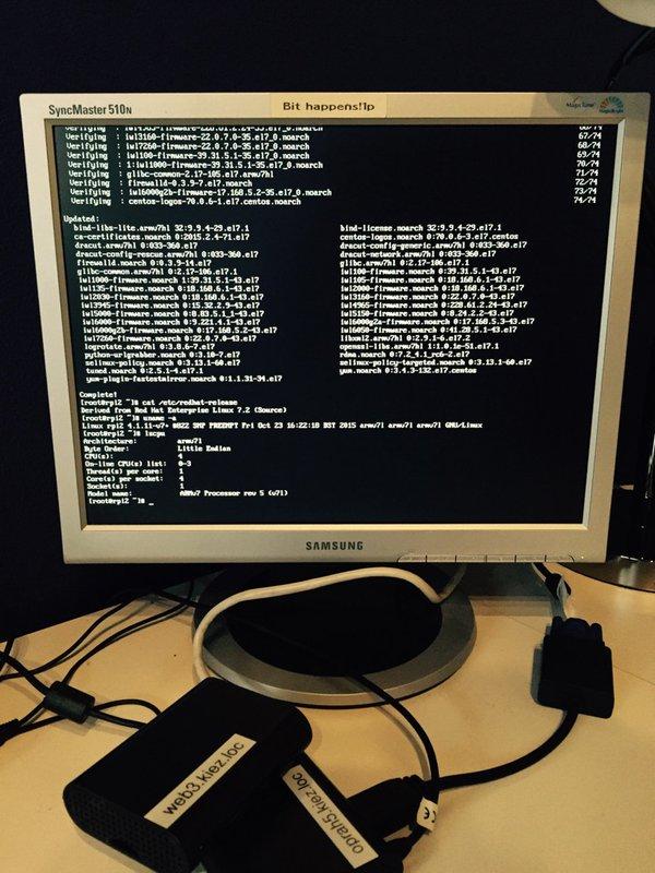 运行在树莓派上的 CentOS 7
