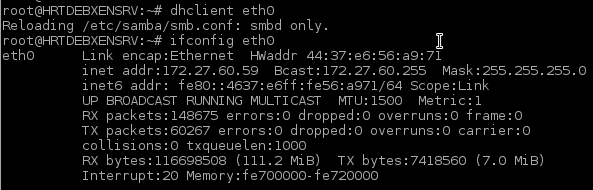 Request IP Address from DHCP