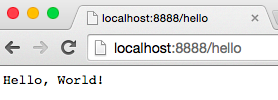 "浏览器返回""Hello World"""""