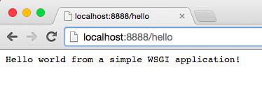 简单的WSGI应用