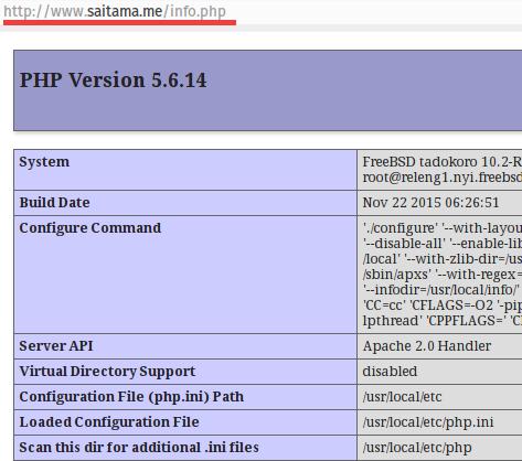 Virtualhost Configured saitamame