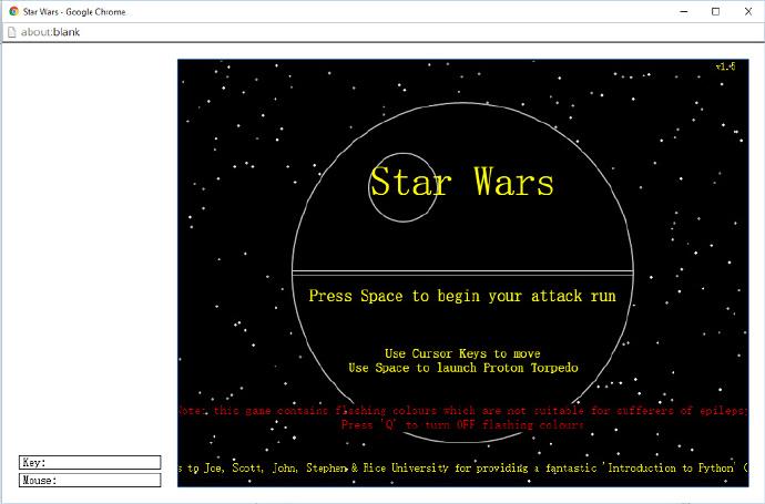 stars wars跑酷游戏,Python开发