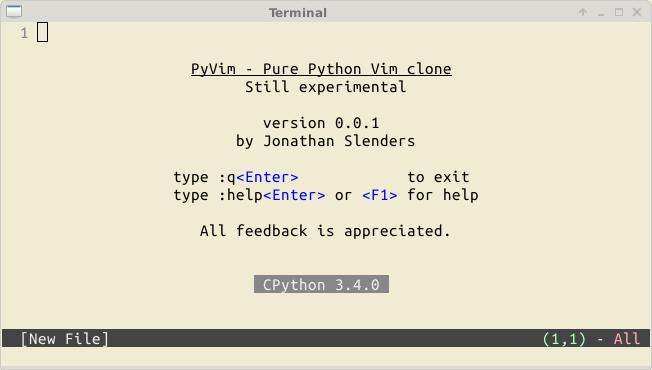 用Python实现的Vim编辑器