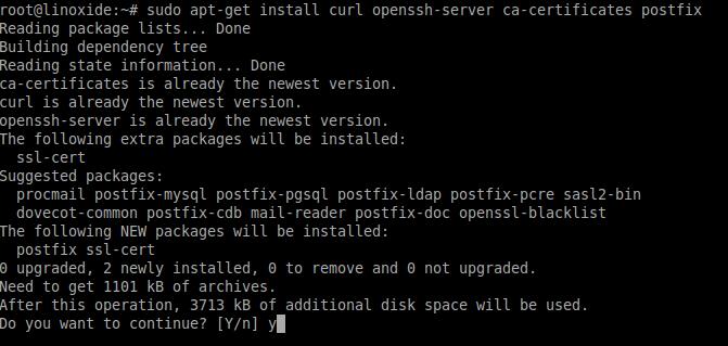 install dependencies gitlab ubuntu debian