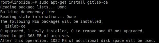 Installing Gitlab Ubuntu Debian