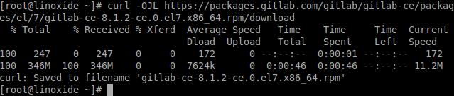 Downloading Gitlab Fedora