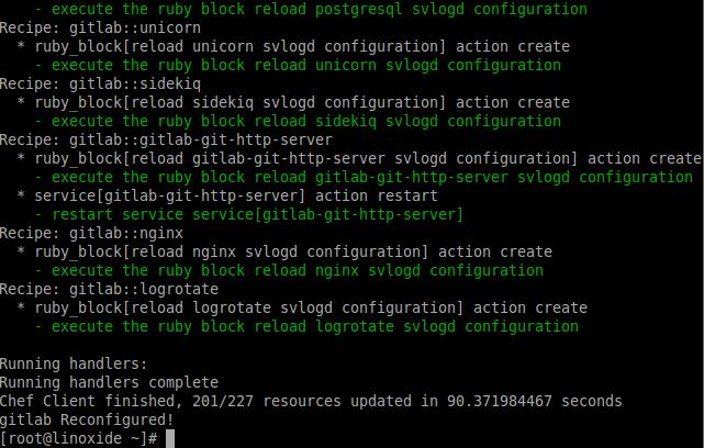 Reconfiguring Gitlab
